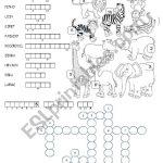 Animals In The Zoo   Esl Worksheetmrs Teach   Zoo Crossword Puzzle Printable