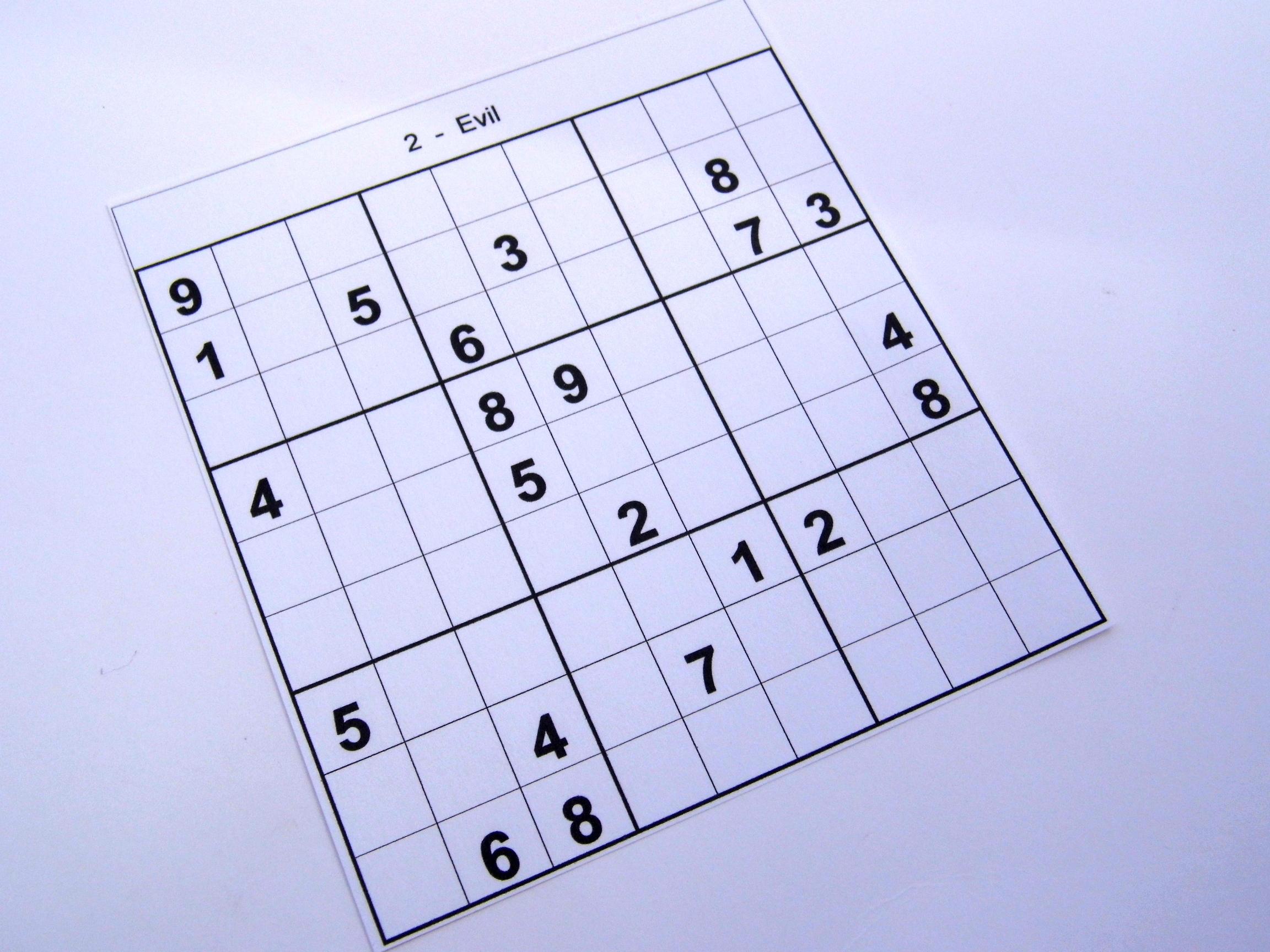 Archive Evil Puzzles – Free Sudoku Puzzles - Free Printable Sudoku 6 - Printable Sudoku Puzzles 2 Per Page
