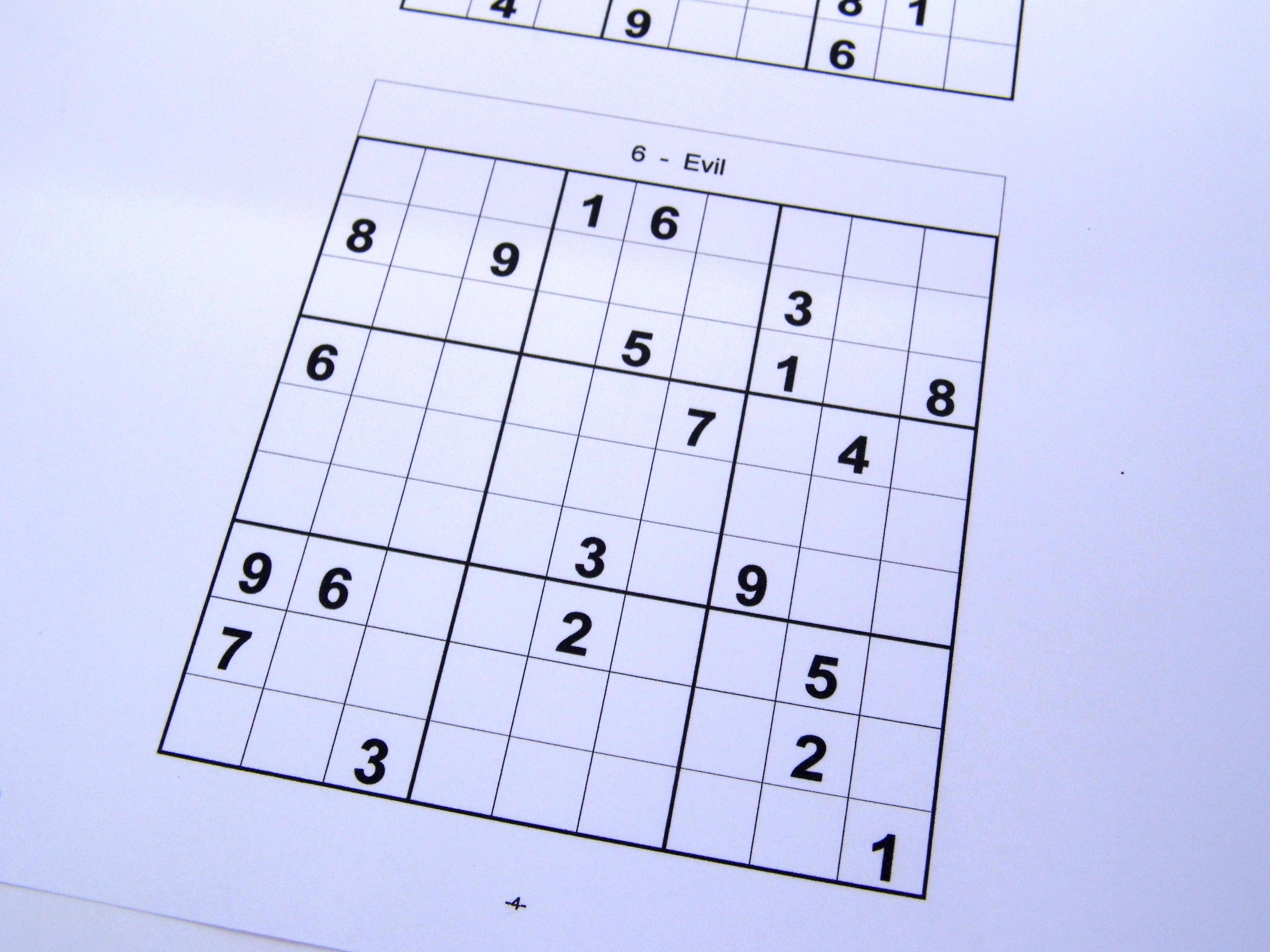 Archive Puzzles – 40 Medium Sudoku Puzzles – Books 1 To 10 – Free - Printable Sudoku Puzzles Medium