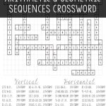 Arithmetic & Geometric Sequences | Algebra I | Geometric Algebra   Algebra 2 Crossword Puzzles Printable