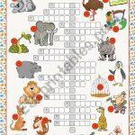At The Zoo (Crossword Puzzle)   Esl Worksheetkissnetothedit   Zoo Crossword Puzzle Printable