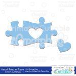 Autism Heart Puzzle Piece   Sofontsy   Free Printable Autism Puzzle Piece