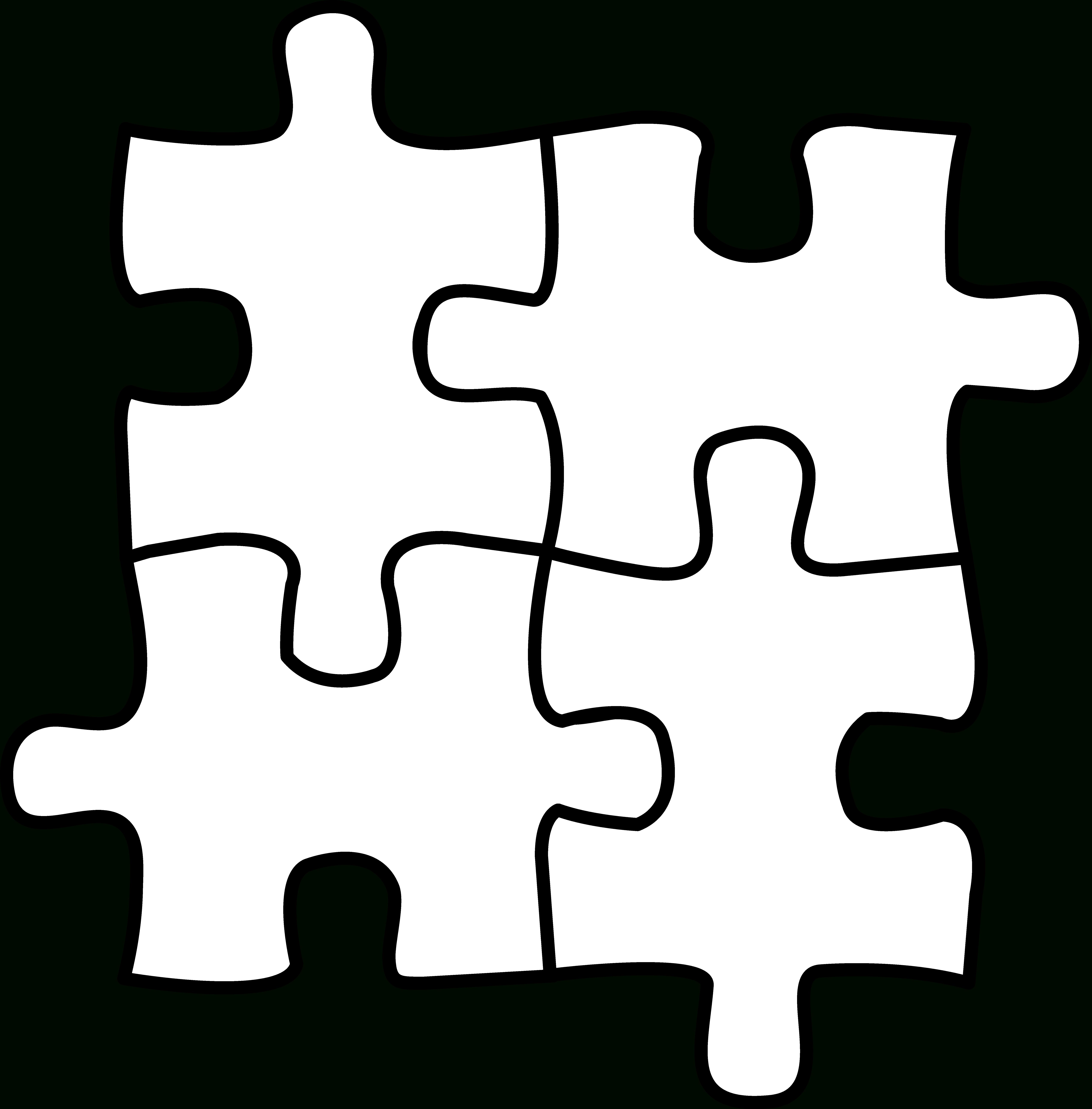 Autism Puzzle Piece Coloring Page - Coloring Home - Printable Puzzle Piece Coloring Pages