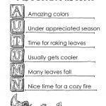Autumn Acrostic Poem Example   Tim's Printables   Printable Acrostic Puzzles Free