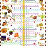 Autumn : Crossword Puzzle With Key Worksheet   Free Esl Printable   Printable Autumn Puzzles