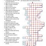 Back To School Crossword Worksheet   Free Esl Printable Worksheets   Reading Crossword Puzzles Printable