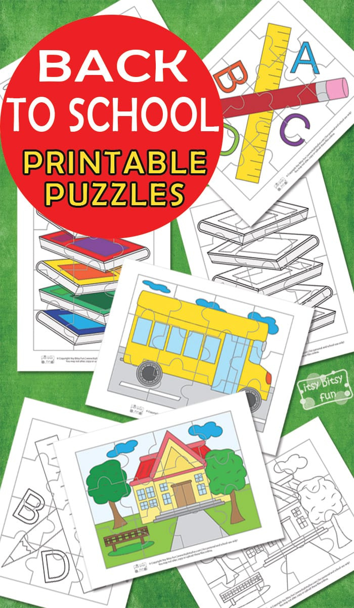 Back To School Printable Puzzles For Kids - Itsy Bitsy Fun - Printable Puzzle Paper