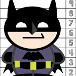 Batman #1 10 Counting Puzzle | Prekautism | Counting Puzzles   Printable Number Puzzles 1 10