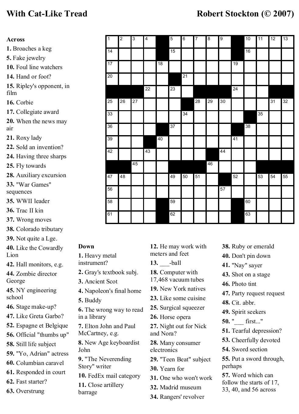 Beekeeper Crosswords - Free Printable Crossword Puzzle #6