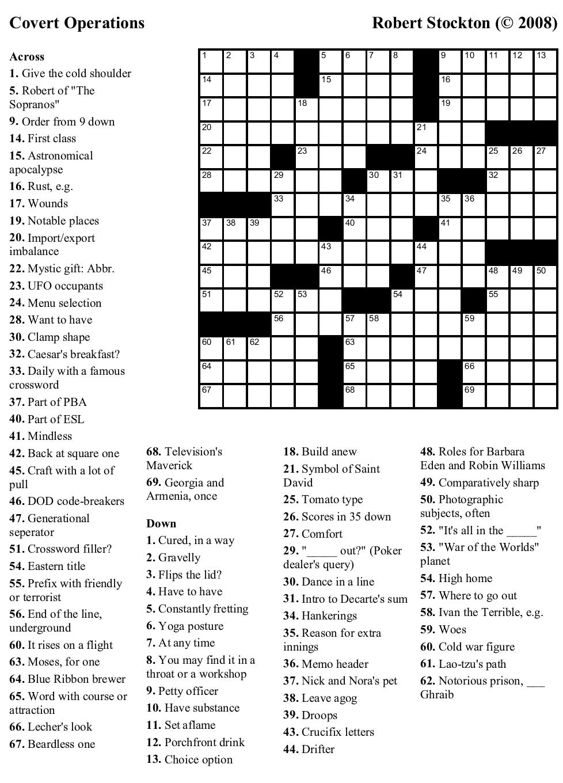 Beekeeper Crosswords - Printable Dirty Crossword Puzzles