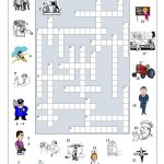 Big Jobs Picture Crossword Worksheet   Free Esl Printable Worksheets   Printable Crossword Esl