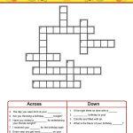 Birthday Crossword Puzzles To Print | Activity Shelter   Printable Birthday Crossword Puzzles