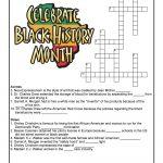 Black History Month Crossword Puzzle Worksheet | Woo! Jr. Kids   Printable Us History Crossword Puzzles