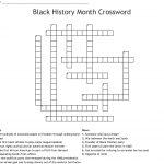 Black History Month Crossword   Wordmint   Black History Crossword Puzzle Printable