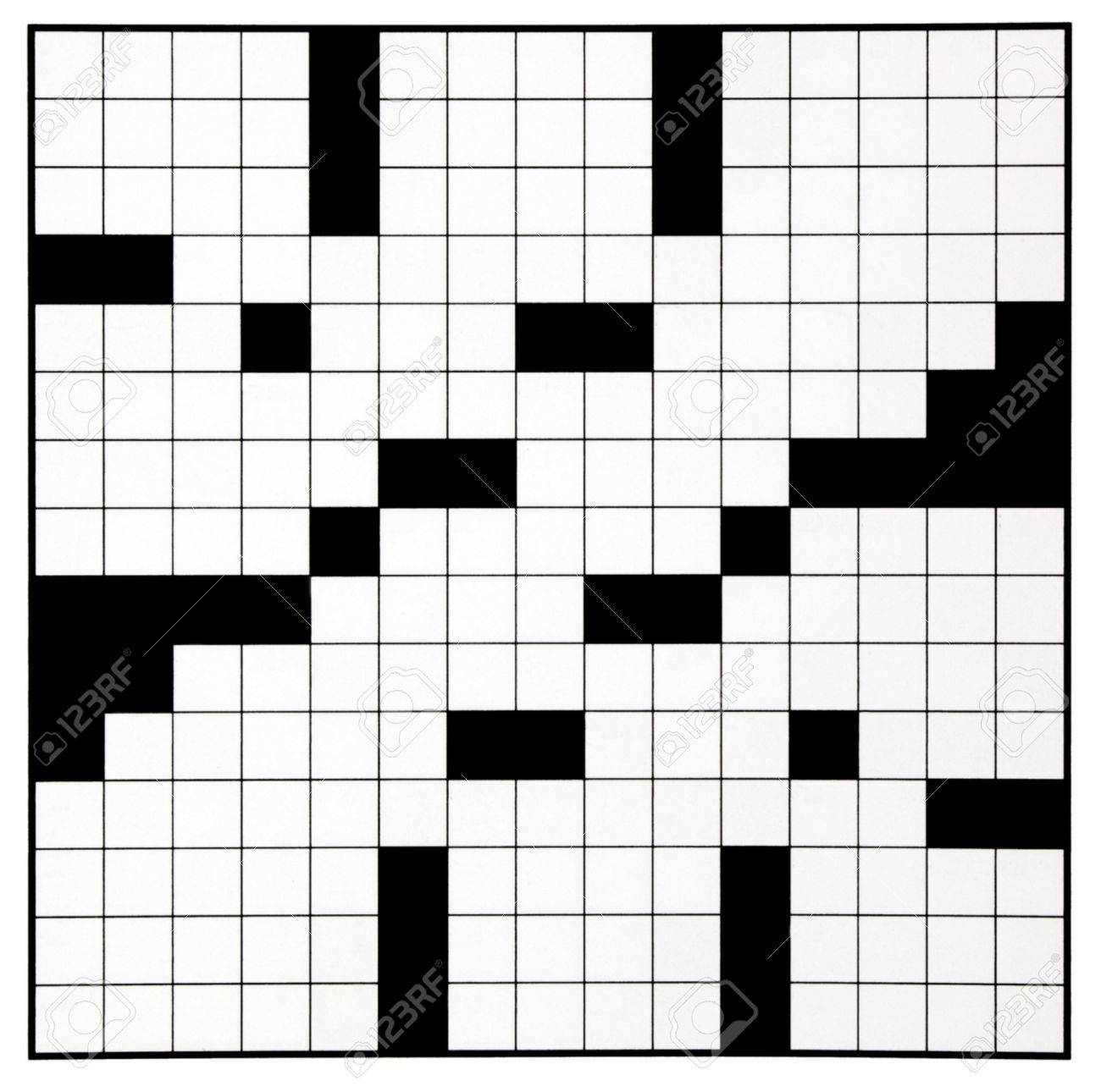 Blank Crossword Puzzle Grid - Karis.sticken.co - Printable Crossword Grid
