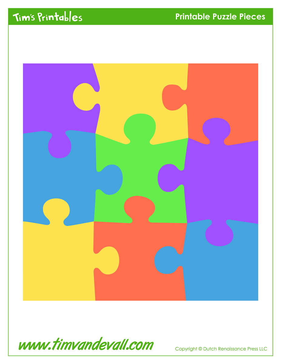 Blank Puzzle Piece Template - Free Single Puzzle Piece Images | Pdf - Printable Giant Puzzle Pieces