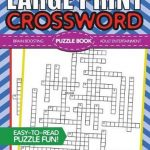 Bol | Large Print Crossword Puzzle Book, Brh Puzzle Books   Large Print Crossword Puzzle Books For Seniors