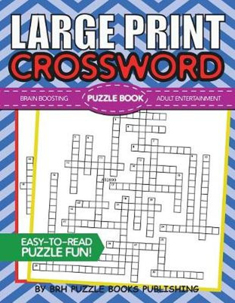 Bol | Large Print Crossword Puzzle Book, Brh Puzzle Books - Print Crossword Puzzle Book