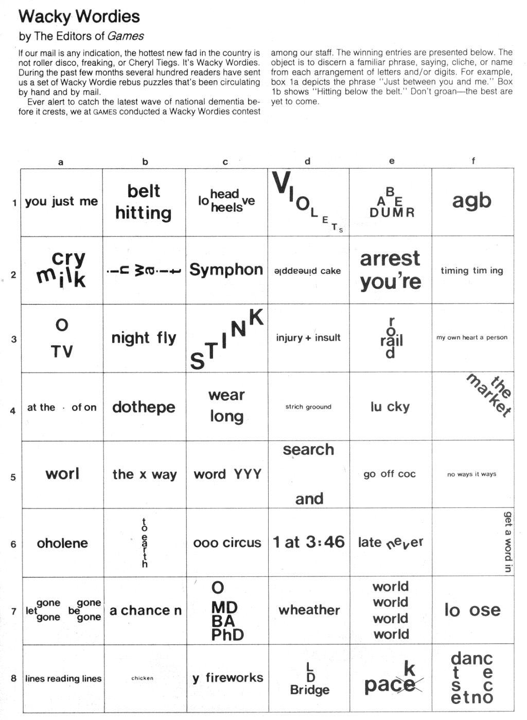 Brain Teasers: Wackie Wordies | School Stuff | Word Puzzles, Brain - Printable Puzzles Brain Teasers