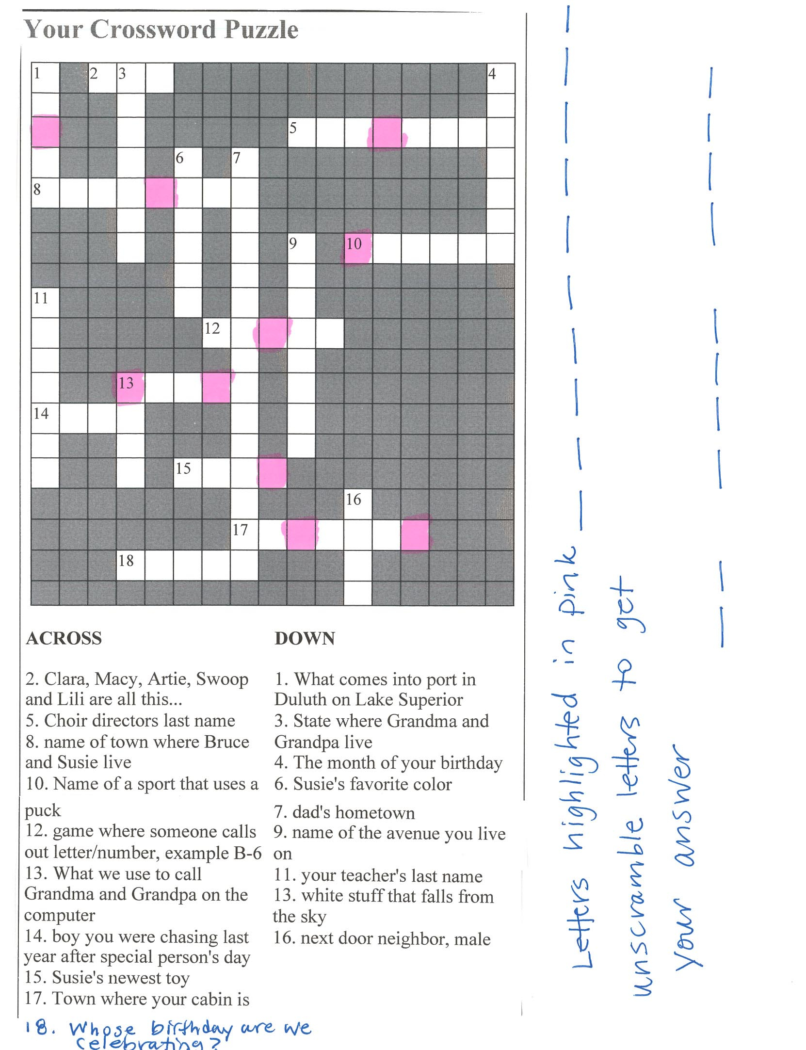Bridal Shower Crossword Puzzle Maker - Create Your Own Crossword Puzzle Free Printable