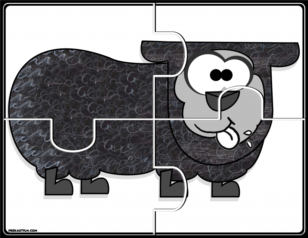 Brown Bear #1-5 Puzzles | Prekautism | Preschool Math, Free - Printable Jigsaw Puzzles Animals