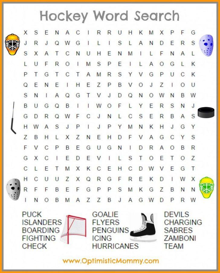 Printable Hockey Crossword Puzzles