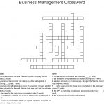 Business Management Crossword   Wordmint   Printable Crossword Puzzles Business And Finance