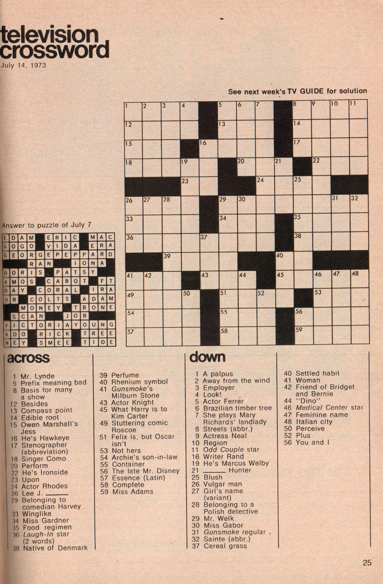 Buttered Pop Culture | Puzzles | Puzzle, Crossword, Tv Guide - Printable Crossword Puzzles Pop Culture