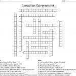 Canadian Government Crossword   Wordmint   Printable Canadian Crossword