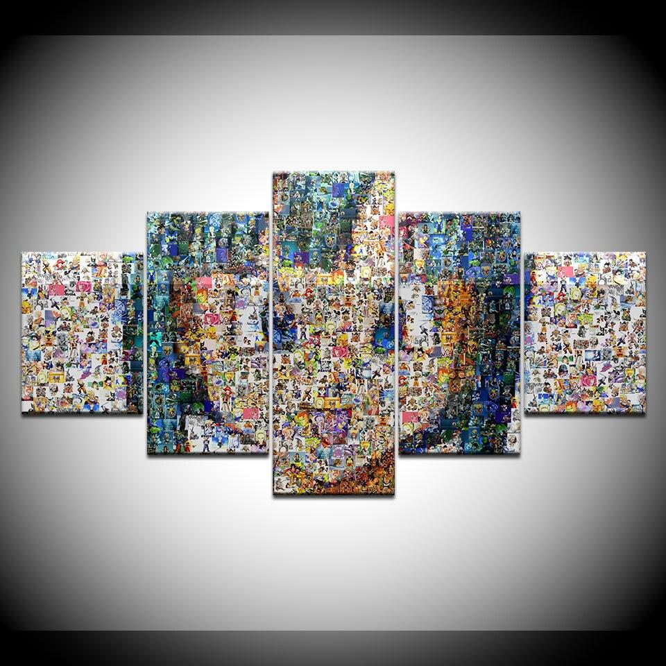 Canvas Painting Art Design Puzzle Girl Avatar 5 Pieces Art Painting - 5 Piece Printable Puzzle