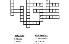 Capital Cities Quiz: Fill In The Country's Capital In The Crossword – Printable Geography Puzzles