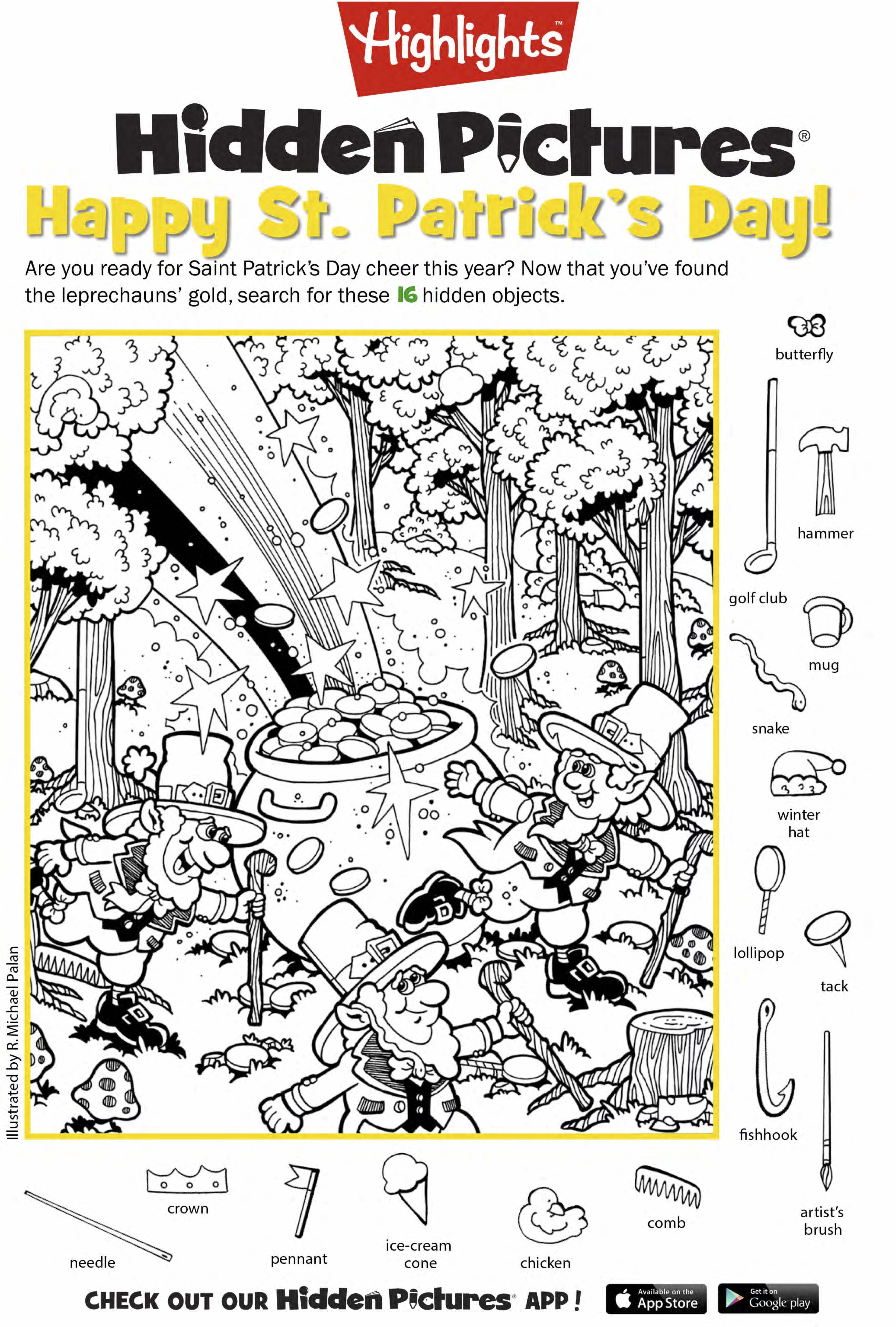 Celebrate March | Printables | Hidden Picture Puzzles, Hidden - Printable Hidden Object Puzzles