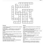 Chemistry Themed Crossword Puzzle | Free Printable Children's   Free   Printable Elementary Crossword Puzzles