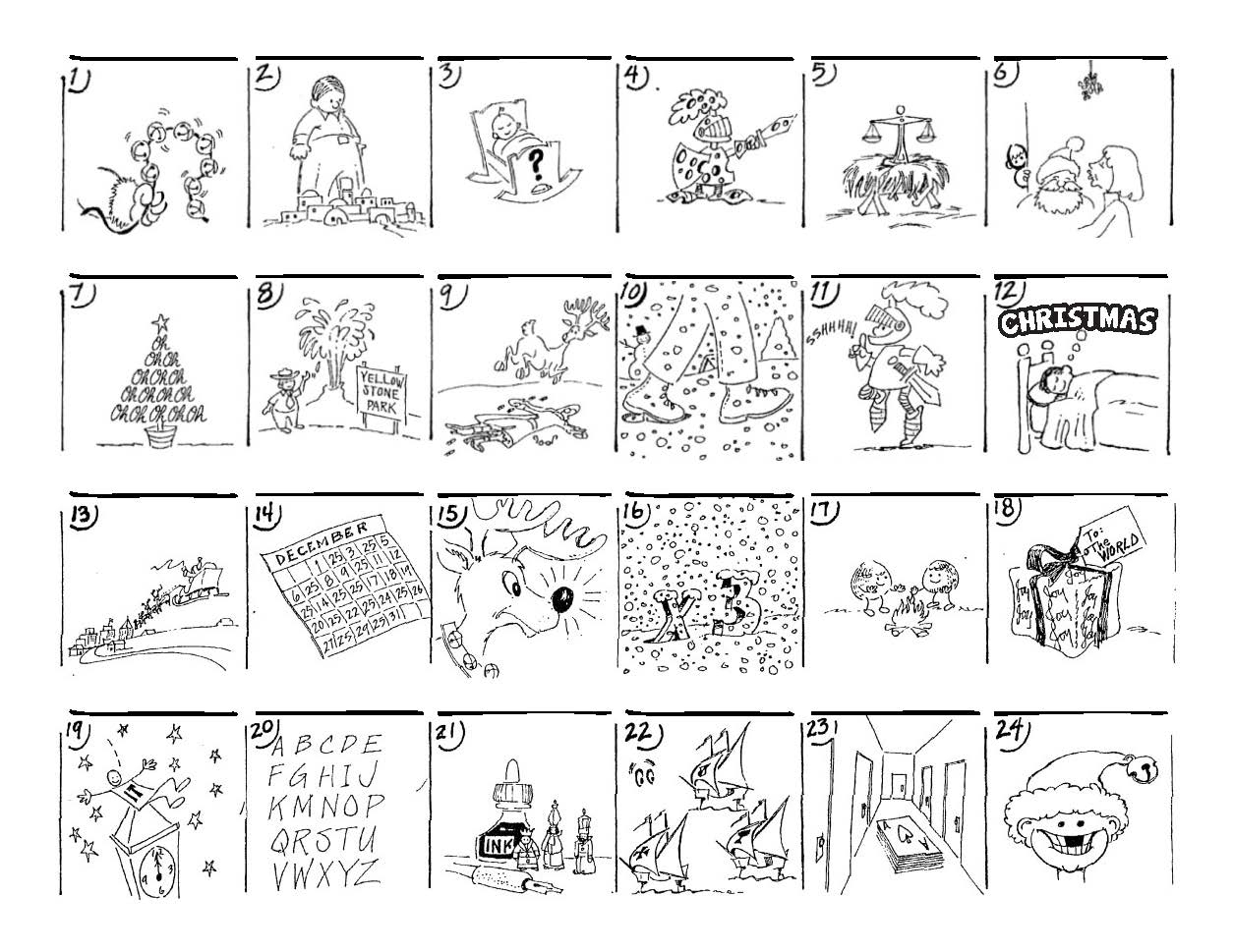 Christmas Carol Puzzles – The Button-Down Mind - Printable Christmas Rebus Puzzles