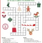 Christmas Crossword Puzzle Printable   Thrifty Momma's Tips   Simple Crossword Puzzles Printable Pdf