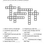 Christmas Crossword Puzzle: Uncover Christmas Words In This   Printable Crossword Puzzles For Esl Students