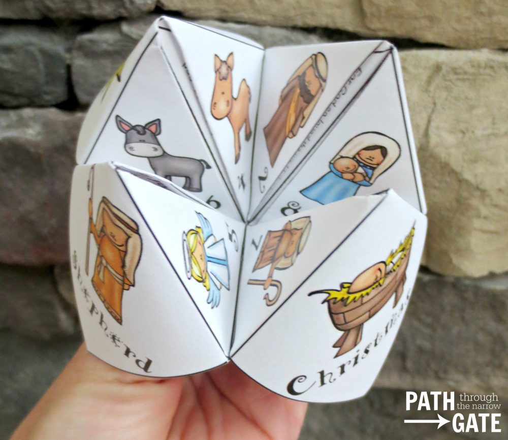 Christmas Finger Puzzle - Path Through The Narrow Gate - Printable Christmas Finger Puzzle With Bible Verses