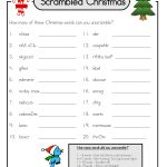 Christmas Word Scramble And Answers | Games | Christmas Word   Printable Unscramble Puzzles