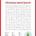 Christmas Word Search Free Printable For Kids Or Adults – Free – Christmas Crossword Puzzle Printable