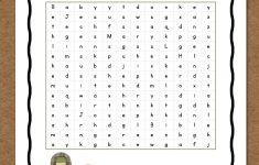 Christmas Word Search: Free Printable – Mamas Learning Corner – Printable Bible Puzzles For Preschoolers