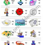 Circle Sound Puzzle 15: Phonics The /oy/ Sound   Esl Worksheet   Printable Phonics Puzzles