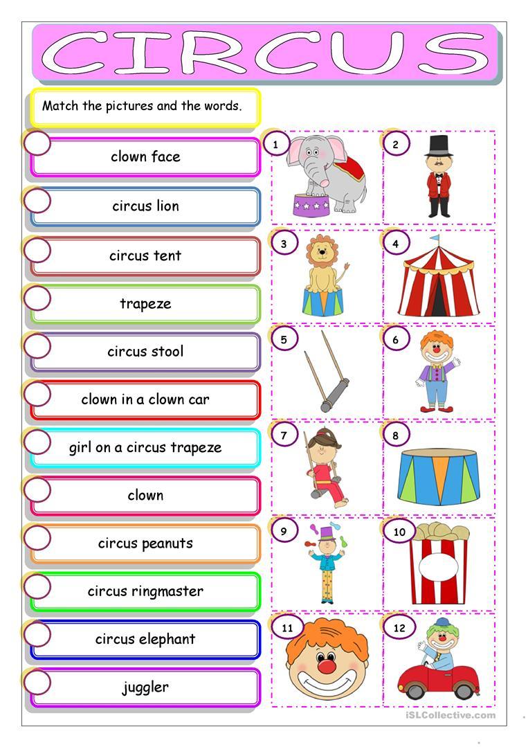 Circus Worksheet - Free Esl Printable Worksheets Madeteachers - Circus Crossword Puzzle Printables