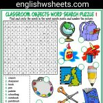 Classroom Objects Esl Printable Word Search Puzzle Worksheets For   Printable Lexicon Puzzles