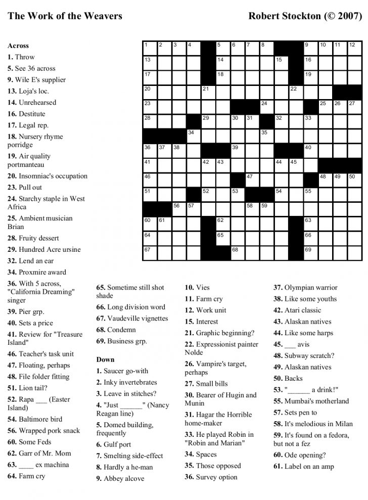 Inappropriate Crossword Puzzle Printable