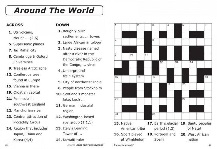 Printable Crosswords By Thomas Joseph