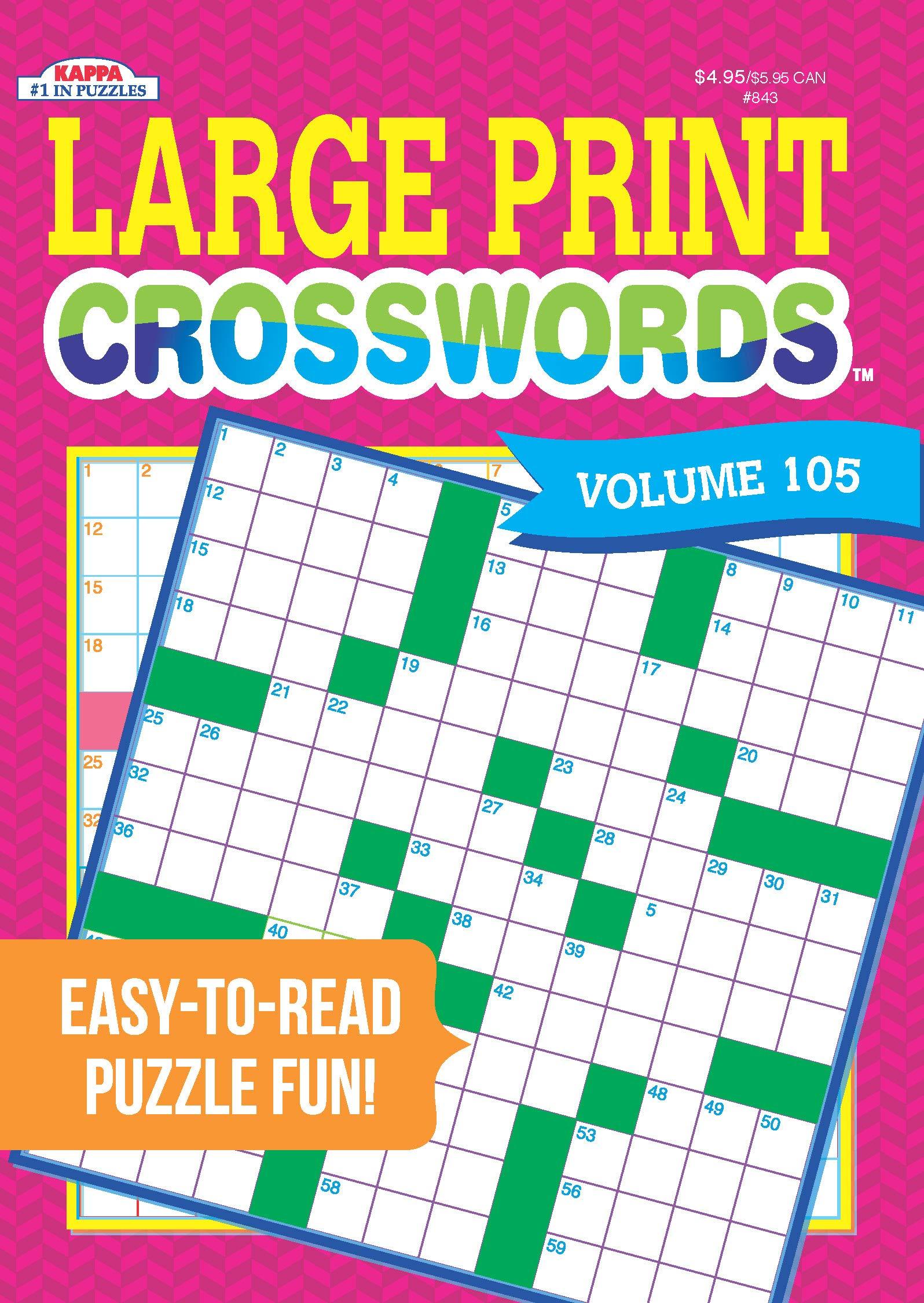 Coloring ~ Large Print Crosswords Coloring Dailythomas Joseph - Print Crossword Puzzle Book