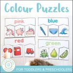 Colour Puzzles For Toddlers And Preschoolers   Little Lifelong Learners   Printable Puzzles For Toddlers