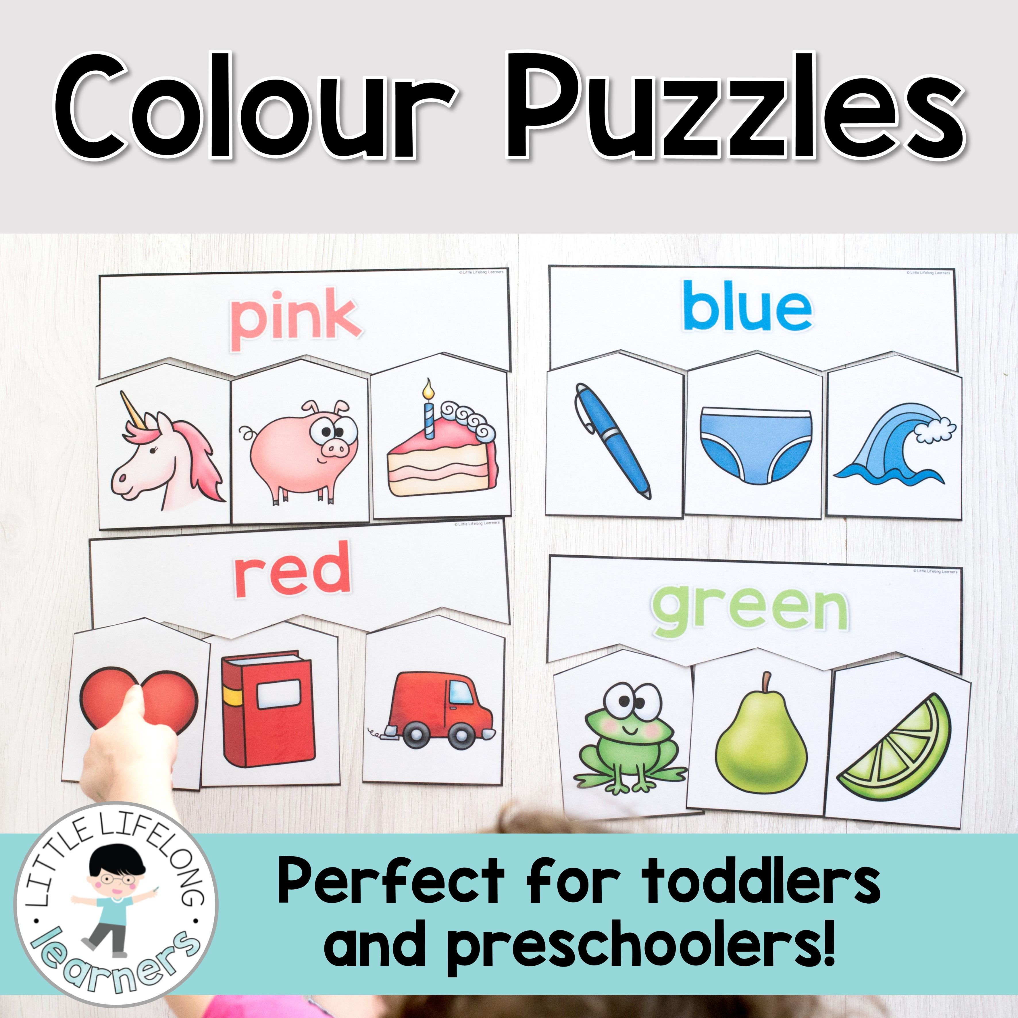 Colour Puzzles For Toddlers And Preschoolers | Toddler And - Printable Puzzle For 3 Year Old