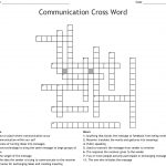 Communication Crossword   Wordmint   Printable Communication Crossword Puzzle