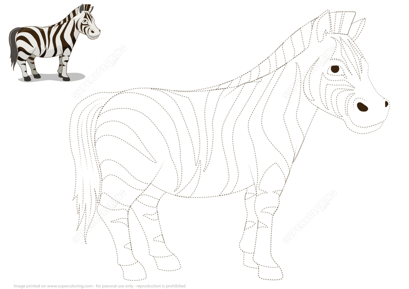 Connect The Dots To Draw A Zebra   Free Printable Puzzle Games - Printable Zebra Puzzles
